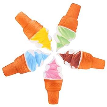 rosenice Jumbo Ice Cream Toy Slow Rising Charm Straps Pendant Stress Relief Gifts,5pcs