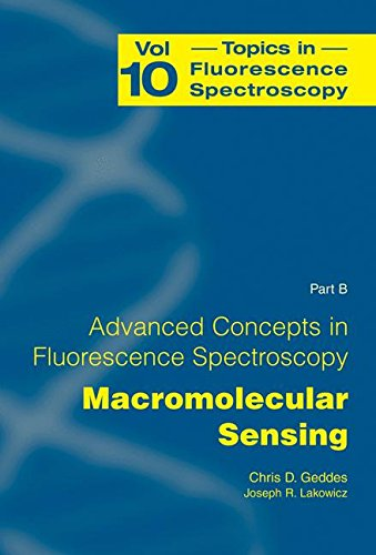 Advanced Concepts in Fluorescence Sensing: Part B: Macromolecular Sensing (Topics in Fluorescence Spectroscopy (10), Band 10)