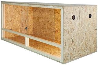Terrario: madera Terrario para Reptiles página ventilación 80 x 40 x 40 cm alta calidad Terrario Madera de OSB montaje s...
