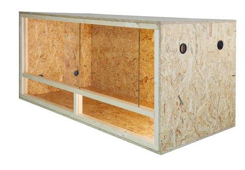 Terrario: madera Terrario para Reptiles pagina ventilacion 80 x 40 x 40 cm, alta calidad Terrario Madera de OSB, montaje sencillo