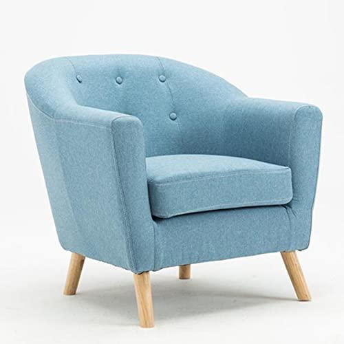 Creator-Z Armsessel Wohnzimmer Sessel Relaxsessel Polstersessel Stoffpolsterung für Wohnzimmer Schlafzi,Blau