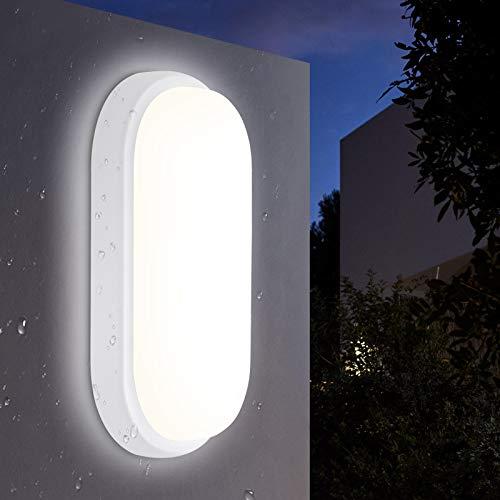 LED Deckenleuchte Bad 18W, Oeegoo 1440LM LED Deckenlampe, IP54 Wasserdicht LED Ovalleuchte, Kellerlampe, Balkonlicht, Flurlicht, Badlampe, Wandlampe, Außenleuchte, Feuchtraumleuchte, 4000K