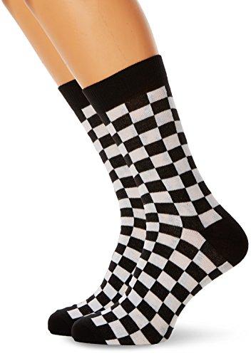 Urban Classics Herren Checker 2-Pack Socken, Mehrfarbig (Black/White 00826), 39/42 (Herstellergröße: 39-42)
