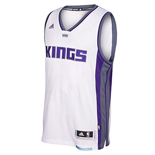 adidas Sacramento Kings NBA White Swingman Jersey for Men (XL)