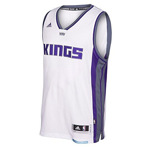 adidas Sacramento Kings NBA White Swingman Jersey for Men (XL)