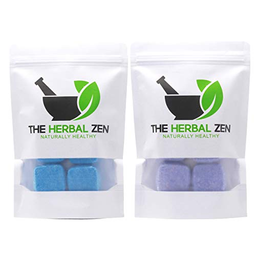 Cold Kicker and Sleepytime Shower Steamers with Essential Oils Combo Set Aromatherapy Shower Bombs by The Herbal Zen