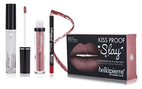 Bellapierre Cosmetics Ombre Kiss Proof Slay Lip Kit - Rosa antico