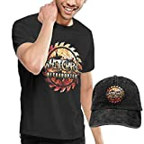 BAODANLE Camisetas y Tops Hombre Polos y Camisas Whitechapel Men's T Shirt and Baseball Cap Classic Personality Set Combination Funny Tops Tees