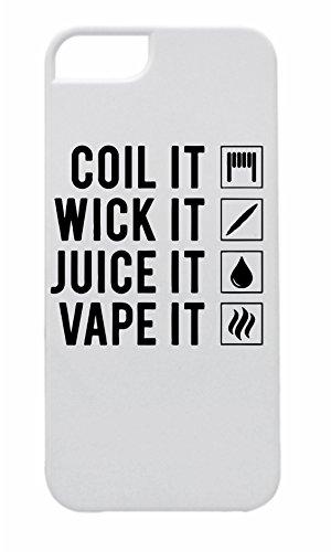 Carcasa para iPhone 5/5S/ SE 'Coil IT, Wick IT, Juice IT - Vape IT' | El imprescindible para cualquier vaporizador. Atrapa la atención sin tener que lanzar nubes.
