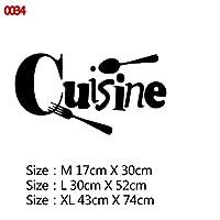 22スタイルの家の装飾アクセサリー壁画壁紙のポスターのための大規模なキッチンウォールステッカーホームデコレーションステッカービニールステッカー (Color : Style1, Size : Size M)
