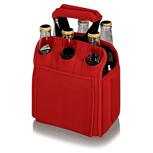ONIVA - a Picnic Time brand Six Pack Beverage Carrier Beer Accessories, Black, One size