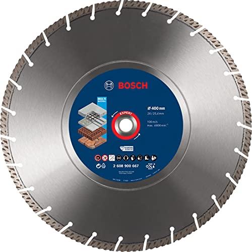 Bosch Professional 1 x Discos de corte de diamante Expert MultiMaterial, para Hormigón, 400 mm, Accesorios Sierra circular de mesa, Sierra a gasolina