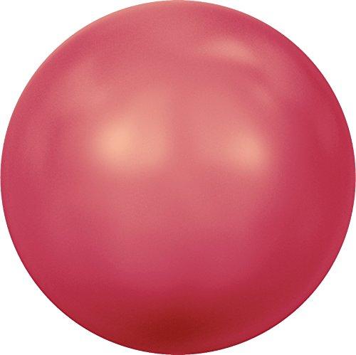 Cristaux de Swarovski 5007638 Perles Nacrées 5818 MM 6,0 Crystal Neon Red Pearl, 500 Pièces