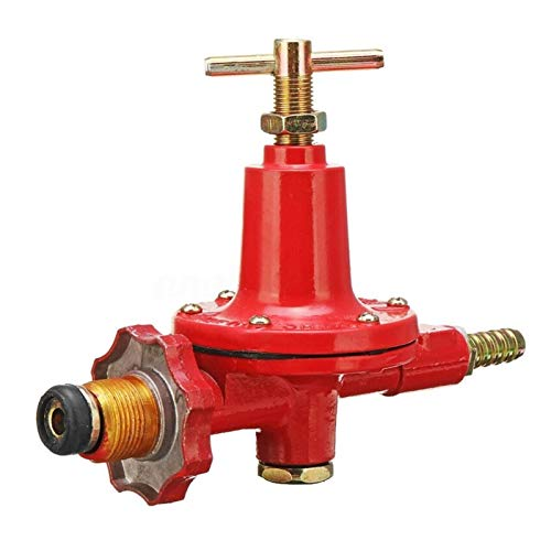 Casetas 1pcs 0-30PSI ajustable de alta presión de propano líquido regulador de gas al aire libre Barbacoa quemador Válvula freidora Wather Eletric presurizador La instalación es fácil de usar