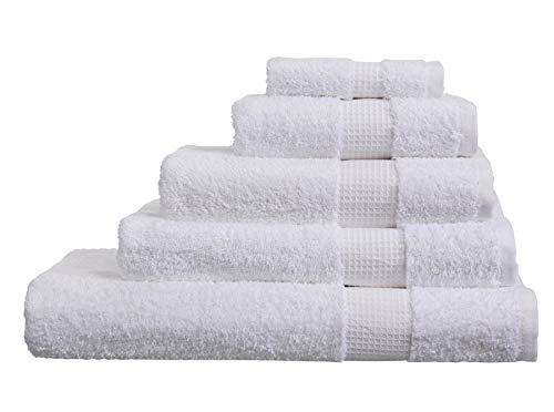 Olivia Rocco - Asciugamani in Cotone Egiziano, 700 g/m², Bianco, XL Bath Sheet
