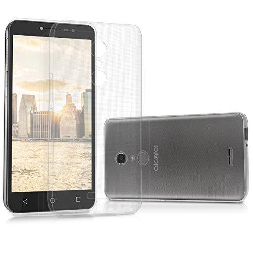 kwmobile Hülle kompatibel mit Alcatel A3 XL - Silikon Handyhülle transparent - Handy Hülle in Transparent