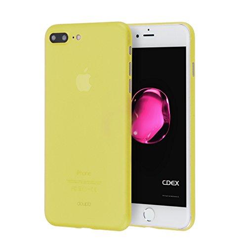 doupi UltraSlim Funda para iPhone 8 Plus / 7 Plus (5,5 Pulgadas), Finamente Estera Ligero Estuche Protección, Amarillo