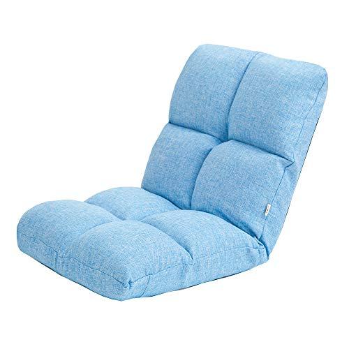 ZT Tela Sofá Cama Sofá Cama con Cojines Silla de Salón Respaldo Ajustable Removable Piso Lavable Silla de Sofá Acolchado Durabilidad (Color : Blue)