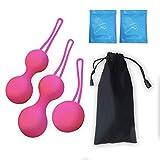 TILLMANN'S Lola Pink - 3 Boules évolutives- Exercices de Kegel pour tonifier Les Muscles pelviens-Rééducation du périnée après l'accouchement-Lubrifiant fourni