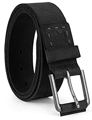 Timberland PRO Men's 40mm Workwear Leather Belt, Black/Pull Up, 38