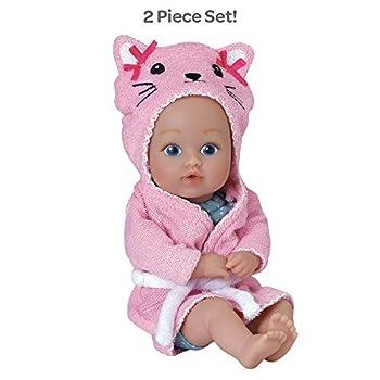 Adora Baby Bath Toy Kitty 8.5 inch Bath Time Baby Tot Doll with QuickDri Body