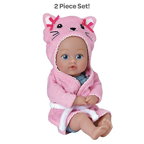 Adora Baby Bath Toy Kitty, 8.5 inch Bath Time Baby Tot Doll with QuickDri Body