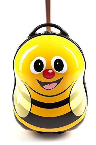 Cuties and Pals Kinderkoffer Kindergepäck Kinder Reisegepäck Kindertrolley Koffer Trolley Handgepäck (Biene, Koffer)