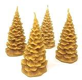 Wieschalla-Design 4,98€/STK Tannenwald Set von 4 Stck Bienenwachskerzen Tanne klein Adventskerzen Bienenwachs Kerze