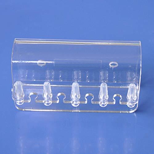 GeKLok Soporte de tubo blando, soporte transparente para acuario, accesorios de PC, manguera suave, bomba dosificadora, estante, codo para tubería de tanque, colgador para peces