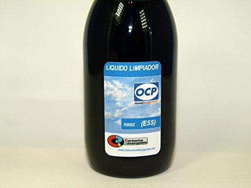 ESS Liquido Limpiador Rinse-Azul Marca OCP para Limpieza de Cabezales e inyectores en impresoras y Cartuchos Epson y Brother. ENVIAMOS URGENTE 24H