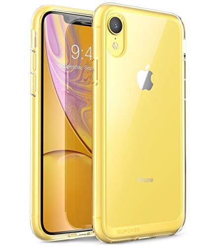 SupCase iPhone XR Hülle Hybrid Handyhülle Premium Case Transparent Schutzhülle Backcover [Unicorn Beetle Style] für iPhone XR (6.1 Zoll) 2018 (Transparent)