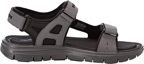Skechers Flex Advantage 1.0-Upwell-51874, Sandali con Cinturino alla Caviglia Uomo, Nero (Black/Charcoal), 43 EU