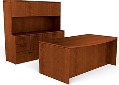 Amazon.com: OTG Artisan Grey AGL Superior Laminate Desk Bow ...