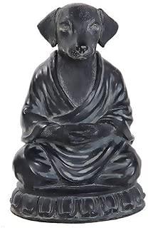 Bellaa 29608 Dog Statue Zen Buddha Yoga Pose Meditation 6 Inch
