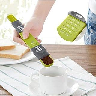 sizOO - ملاعق قياس - 1 قطعة 8 تروس محمولة قياس معالق أدوات خبز قابلة للتعديل عدّاد مزدوجة الأطراف ملحقات المطبخ الحديثة ال...