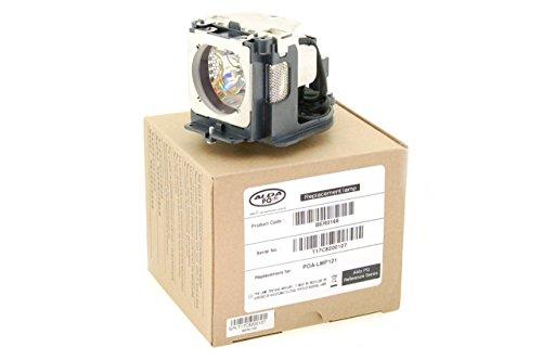 Alda PQ Referenz, Lampe ersetzt 610 333 9740, POA-LMP111 für SANYO PLC-XU106, PLC-XU106K, PLC-XU111, PLC-XU115, PLC-XU115W, PLC-XU116 Projektoren, Beamerlampe mit Gehäuse