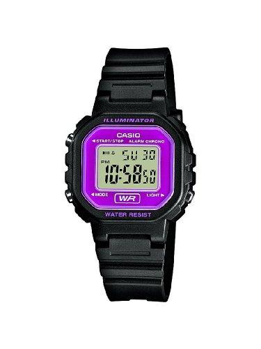 Casio CASIO Collection Women - Reloj digital de mujer de cuarzo con correa de resina negra (alarma, cronómetro, luz)