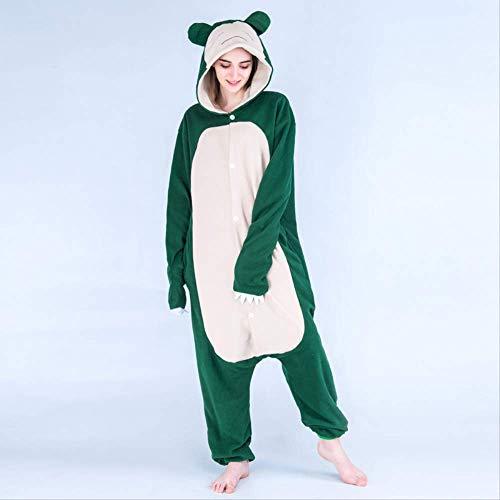 Mujeres Snorlax Pijamas Animal Kigurumi Onesies para Adultos Mono de Dibujos Animados Cosplay Disfraz Halloween XXL Snorlax Onesie