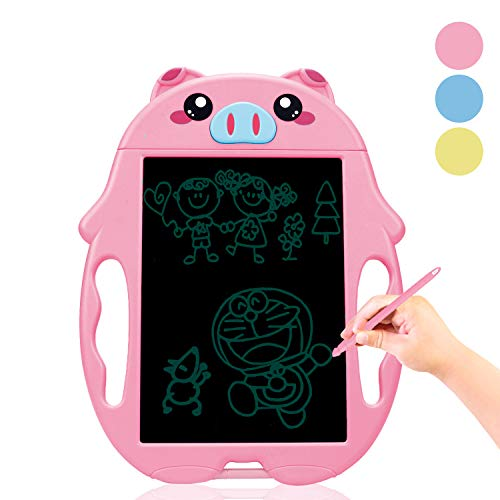 Learning Toys for 2-5 Year Old Girls,LCD Writing Tablet Toys Digital Notepad for Boys Birthday Gifts Pink