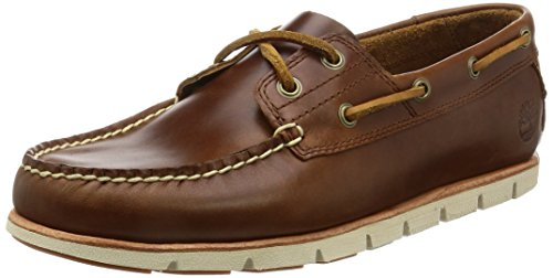 Timberland Tidelands Classic 2 Eye, Náuticos para Hombre, Marrón (MD Brown Full Grain), 43.5 EU