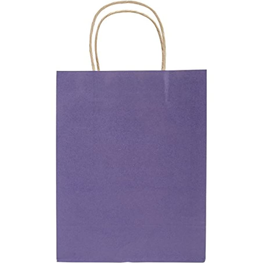 Darice 1167-63 1Piece, 8 by 10.5 by 4.25 inch, Solid Color Paper Bag with Handle, Purple