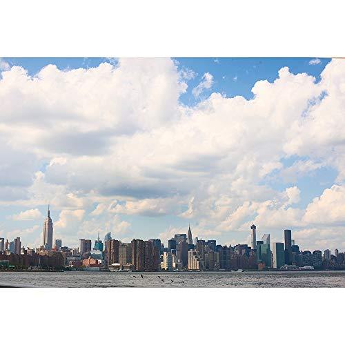 SANSHUI Ciudad Bajo El Cielo Azul Y Nubes Blancas Jigsaw Puzzle Entertainment Serie Ciudad Regalos Creativos De Madera del Rompecabezas De Dificultad 500-6000 Piezas 0330 (Size : 1000 Pieces)