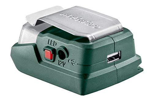 Metabo 600298000 600298000-Linterna y Cargador conexión USB (para batería) PowerMaxx PA 12, 12 V, Negro