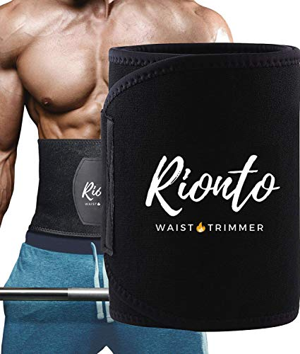 Rionto Sweat Slim Belt for Men and Women – Weight Loss Tummy Trimmer, Supports Lower Back (Medium)