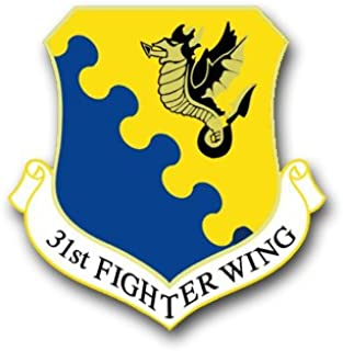 US Air Force 31st Fighter Wing Vinyl Transfer Decal Military Veteran Served Window Bumper Sticker Vinyl Decal 3.8