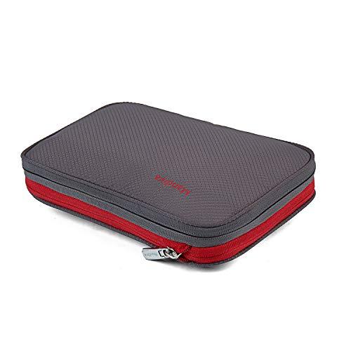 [Mandiva] 便利旅行圧縮バッグ ファスナー圧縮スペース50%節約 衣類収納圧縮バッグ (15L, グレー)