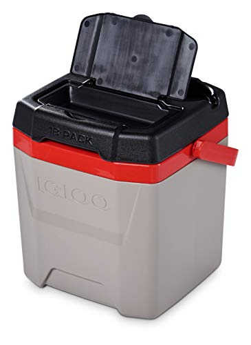 Igloo Quantum 12 Quart Cooler , Sandstone/Red