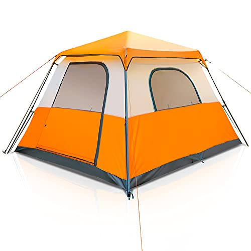 Camping Tent Instant Setup 6 Person Pop Up Tents Family Tent Waterproof Sturdy...