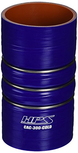 HPS CAC-300-COLD Silicone High Temperature 4-ply Reinforced Charge Air Cooler CAC Hose Cold Side, 100 PSI Maximum Pressure, 6' Length, 3' ID, Blue