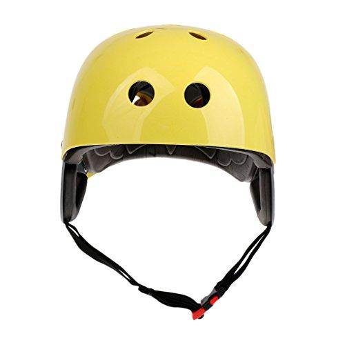 Sharplace Casco Ajustable de Seguridad Profesional Aprobado por La CE para Esquí Acuático en Aguas Bravas Deportes Kayak Vela Rafting Navegación Circunferencia - Amarillo